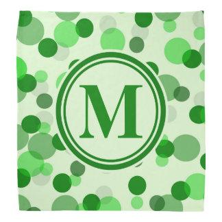 緑はモノグラムに斑点を付けます バンダナ