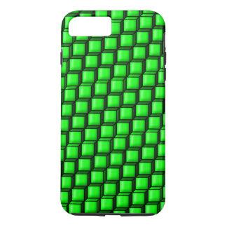 緑は堅いiPhone 7のプラスの場合を平方します iPhone 8 Plus/7 Plusケース