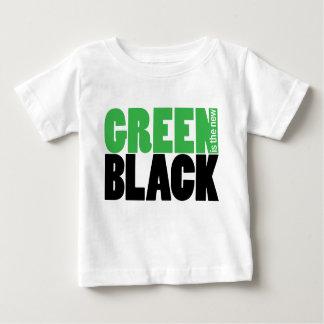 緑は新しく黒くかわいい幼児Tシャツです ベビーTシャツ