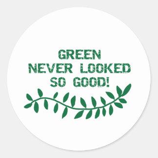 緑は決してあまりよく見ませんでした ラウンドシール