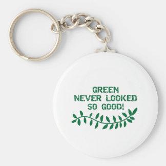 緑は決してそうよいTシャツおよびギフトを見ませんでした キーホルダー