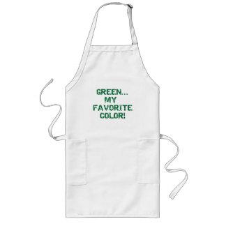 緑は私のお気に入りのな色です ロングエプロン