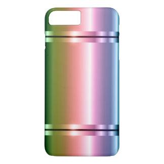 緑への光沢がある模造のな金属の勾配の紫色 iPhone 8 PLUS/7 PLUSケース