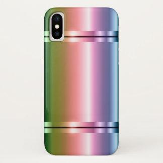 緑への模造のな金属の勾配の紫色 iPhone X ケース