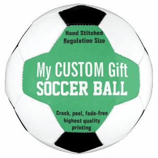 緑を個人化する習慣によって印刷されるサッカーボール サッカーボール