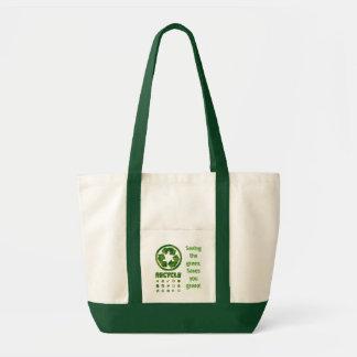 緑を救うリサイクルは緑を救います! トートバッグ
