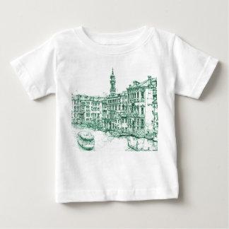 緑インクのベニス ベビーTシャツ