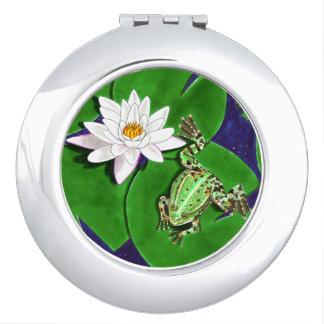 緑カエルおよびスイレンの鏡