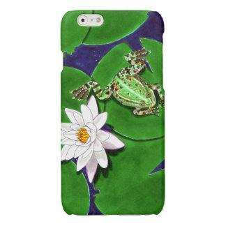 緑カエルおよびスイレンのiPhone 6/6sの場合 光沢iPhone 6ケース
