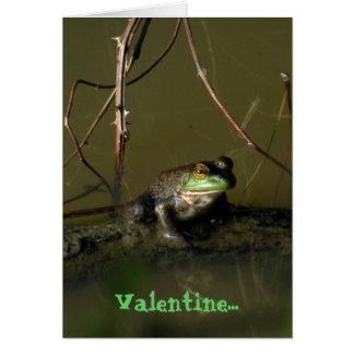 緑カエルのおもしろいなバレンタインカード カード