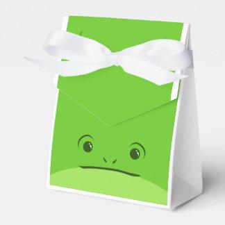 緑カエルのかわいい動物の顔のデザイン フェイバーボックス
