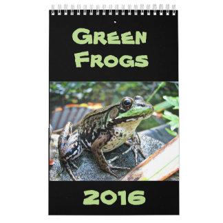 緑カエルのカレンダー2016年 カレンダー