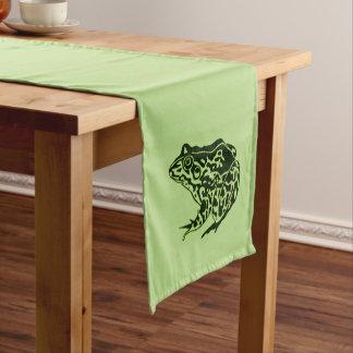 緑カエルの緑 ショートテーブルランナー