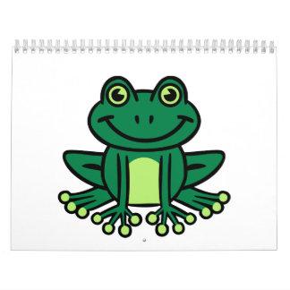 緑カエル カレンダー