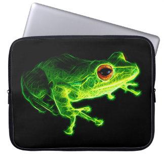 緑カエル ノート型パソコンスリーブ