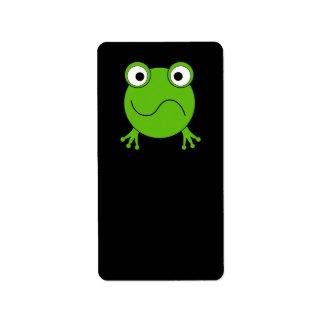 緑カエル。 混同される見ること ラベル