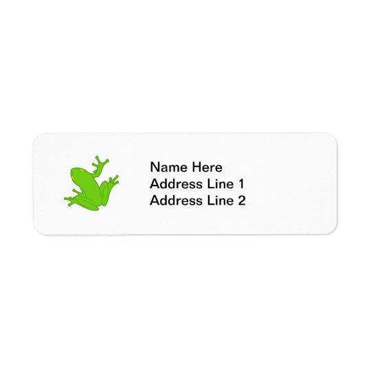 緑カエル 返信用宛名ラベル