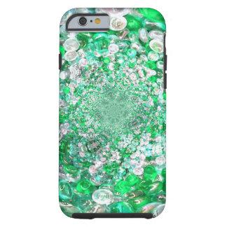 緑ガラスの水晶の泡効果 ケース