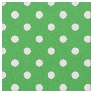 緑ケリー及び白は|の生地に点を打ちます ファブリック