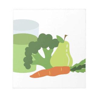 緑ジュースの野菜 ノートパッド