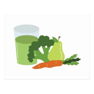 緑ジュースの野菜 ポストカード