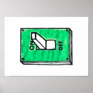 緑スイッチポスター ポスター