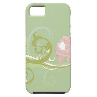 緑スクロールおよびシャクヤクの穹窖の箱 iPhone SE/5/5s ケース