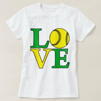 緑ソフトボール愛 Tシャツ