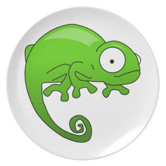 緑トカゲのイグアナの漫画 プレート