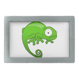 緑トカゲのイグアナの漫画 長方形ベルトバックル