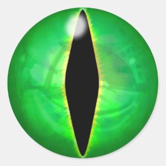 緑ドラゴンの目 ラウンドシール