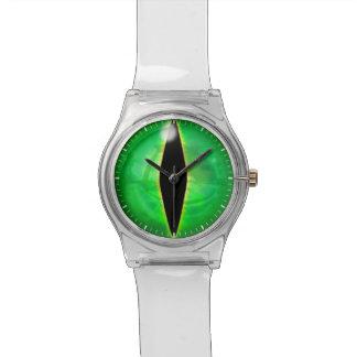 緑ドラゴンの目 腕時計