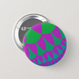 緑ドラゴンはボタンをはかりで測ました 缶バッジ