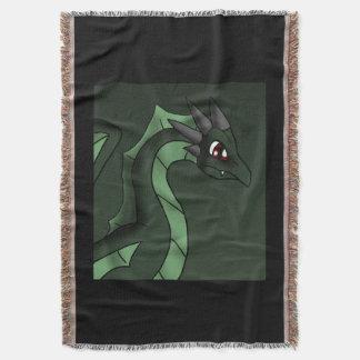 緑ドラゴン6-7-13のファンタジーの漫画の芸術 スローブランケット