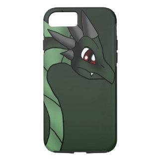 緑ドラゴン6-7-13のファンタジーの漫画の芸術 iPhone 8/7ケース