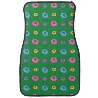 緑ドーナツパターン カーマット