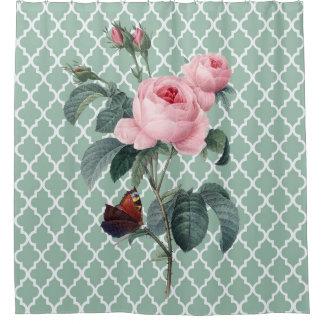 緑バラ東洋 シャワーカーテン