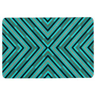 緑パターンのモダンな斜めのチェック模様の陰 フロアマット