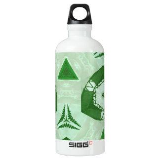 緑パターン ウォーターボトル