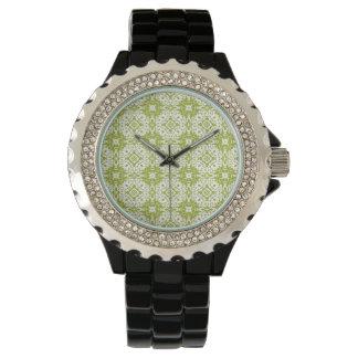 緑パターン 腕時計