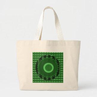 緑パッチ: 基づいた治療の水晶石 ラージトートバッグ