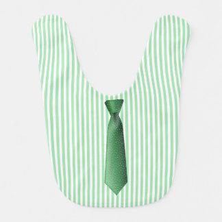 緑ビジネスタイのベビー用ビブ ベビービブ