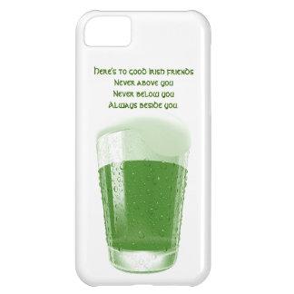 緑ビールのパイント+引用文アイルランドの友人のトースト iPhone5Cケース