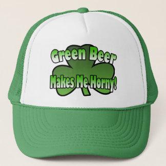緑ビールは私に角質の帽子をします キャップ