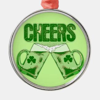 緑ビール応援 シルバーカラー丸型オーナメント