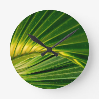 緑ファン ラウンド壁時計
