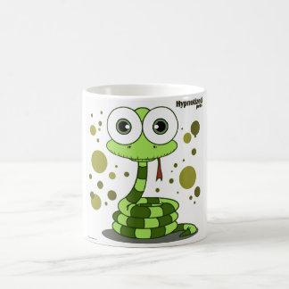 緑ヘビの白11のozのクラシックで白いマグ コーヒーマグカップ