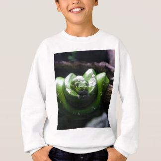 緑ヘビ スウェットシャツ