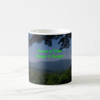 緑メッセージ モーフィングマグカップ