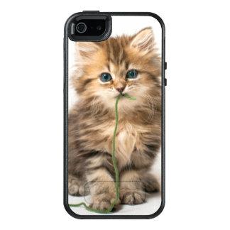 緑ヤーンを持つ子ネコ オッターボックスiPhone SE/5/5s ケース